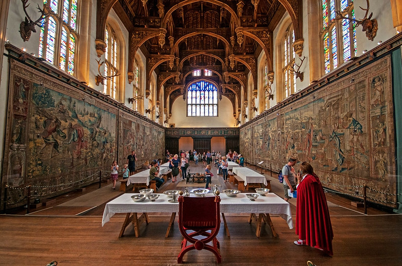 Tapestries in the Great Hall. Credit bvi4092, flickr