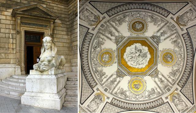 Budapest opera exterior details