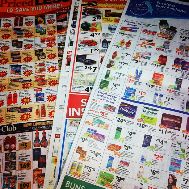 Supermarket Inserts are Hardcopy Pinterest Boards.