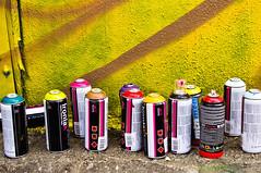 All lined up - Ironlak - Mtn - Houston Graffiti