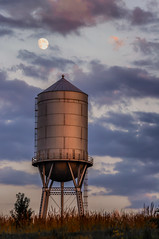 Water Tower and Moon_1913_.jpg by Mully410 * Images