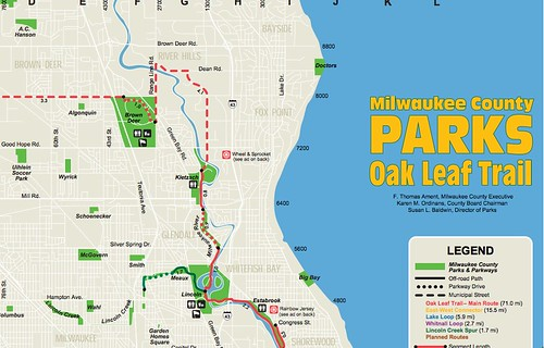 Oak Leaf trail map