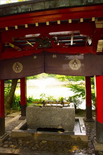 Templo y fuente de agua