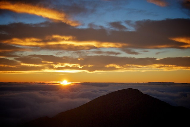 Sunrise on Maui at Haleakala