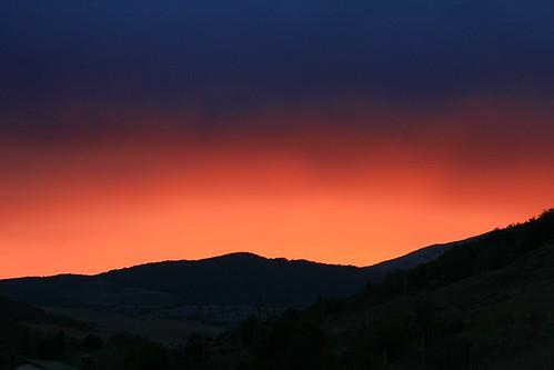無料写真素材, 自然風景, 朝焼け・夕焼け, 山, 風景  スペイン