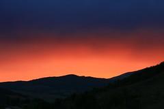 [フリー画像素材] 自然風景, 朝焼け・夕焼け, 山, 風景 - スペイン ID:201209121800