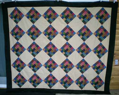 Wanda 83x96 postage stamp quilt top