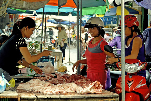 Pork at the wet market