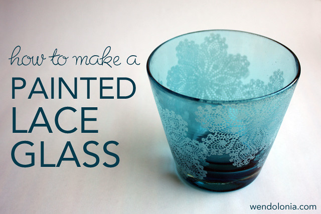 How to Make a Painted Lace Glass