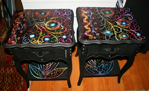 Vintage Nightstands Makeover by Rick Cheadle Art and Designs