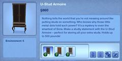 U-Stud Armoir