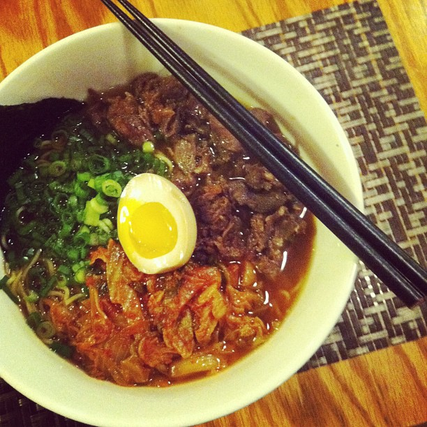 The Korean in me wanted some kimchi so i got the chosun #ramen. The shoki bowl was better. :(