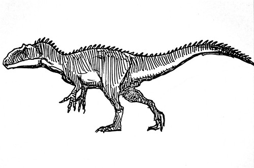 tiny allosaurus sketch
