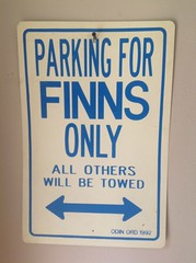 Parking for Finns Only