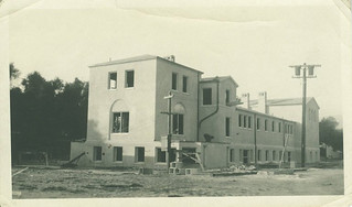 Mason Hall, under construction in 1923