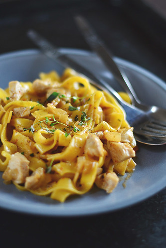 Fettuccine with Chicken and Smoked Paprica