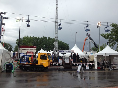 track vehicle at global petroleum show