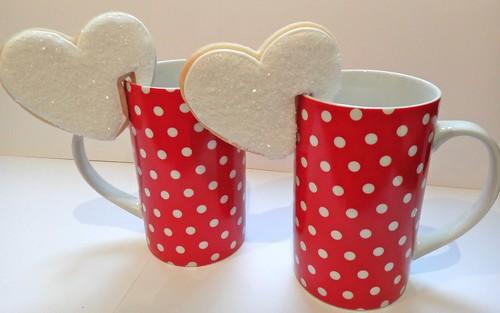 galletas para taza- corazones blancos