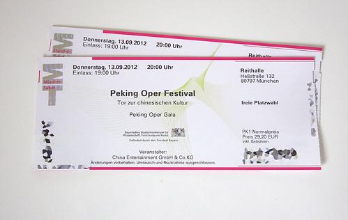 Peking Oper Festival München - Eintrittskarten