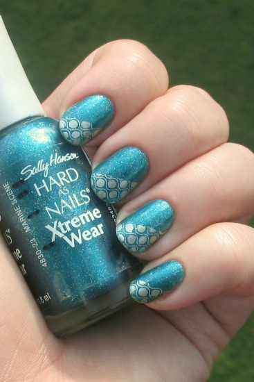 Teal franken with wavy silver dots (Bundle Monster)
