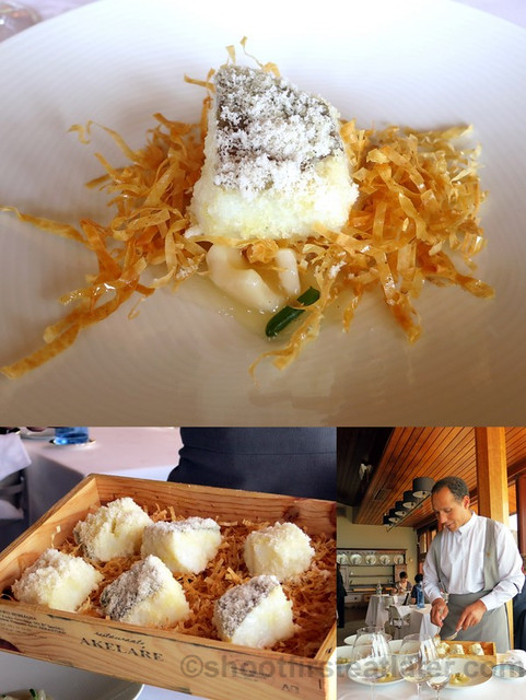 Akelare Bekarki Menu- 'desalted' cod box with shavings