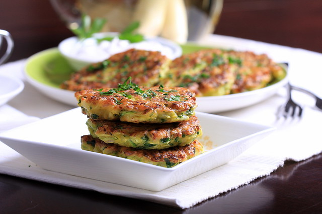Zucchini and Lemongrass Fritters