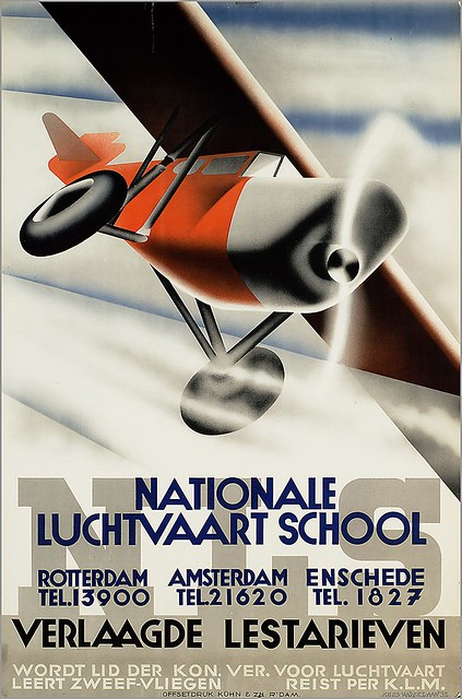 Kees van der Laan. National Flight School. 1932