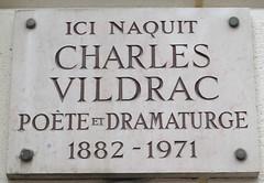 Photo of Charles Vildrac marble plaque
