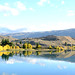 Lake Dunstan reflections Cromwell New Zealand