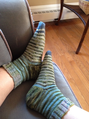 Stripey Scrappy Socks - Fall 2012