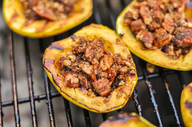 Grilled Pecan Stuffed Apples with Caramel Sauce Dessert Recipe :: The ...