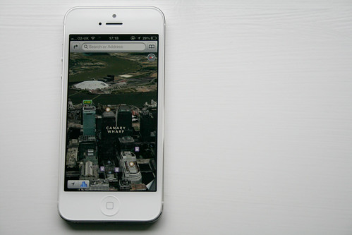 iPhone 5 - Maps showing Antartica