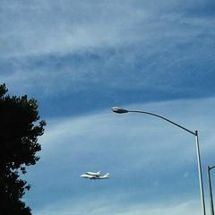 Endeavor fly bye