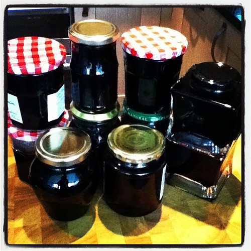 4kg of Blackberries turned into all this Bramble Jelly.