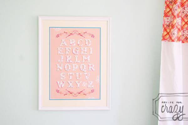 Katie Daisy alphabet poster