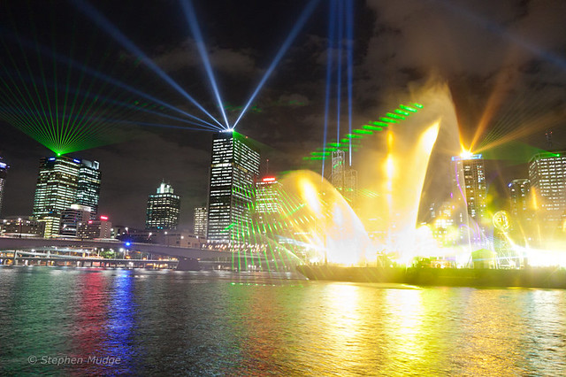 Brisbane Festival laser light show-8 small