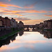 Arno river sunset, Florence, Italy