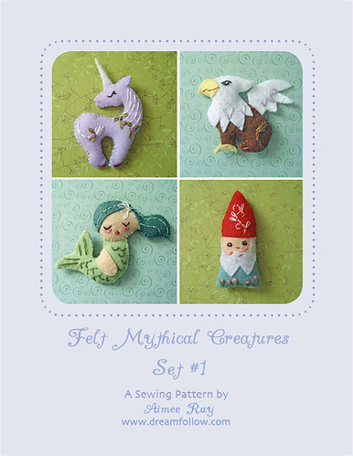 mini felt mythical creatures set 1
