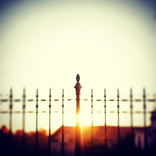 sunset sun fence published athens greece flare instagram
