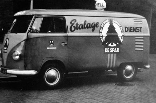"""Volkswagen Transporter bestelwagen 1956 , bedrijf """"De Spar"""""""