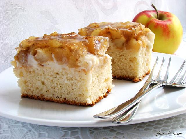 яблочные пирожные с корицей 1