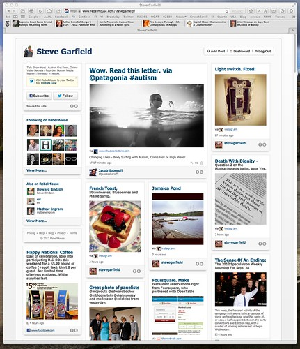 Steve Garfield on RebelMouse. A river of news social media home page. by stevegarfield