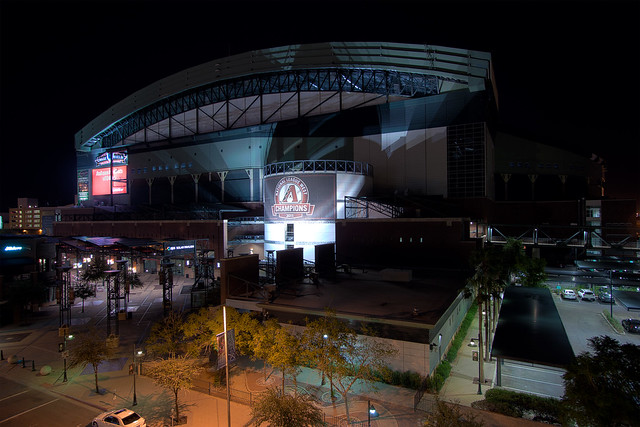 Night Time Outside Chase Field