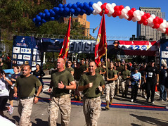 Marines, soldiers, wounded warriors, run in New York City Tunnel to Towers Run, Sept. 30