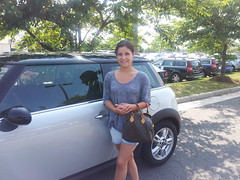 Why did Olivia Rose Beavers trade in her Chevrolet for a new MINI