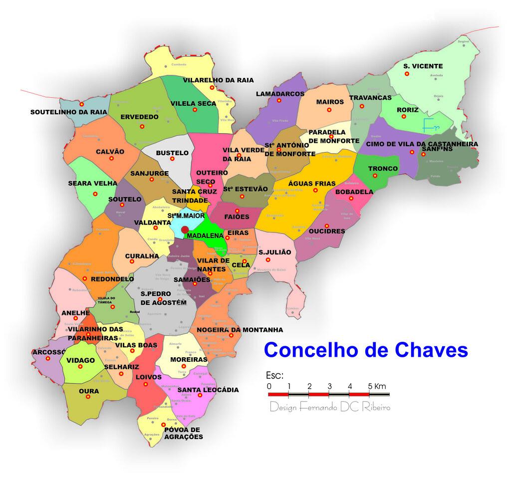 novo mapa de freguesias de portugal Afinal havia outra    CHAVES novo mapa de freguesias de portugal