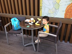 スタバで朝食とらちゃん - 朝散歩 (2012/9/29)