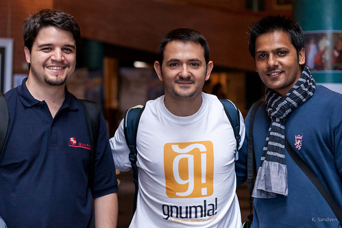 Isidro and Carlos from Gnumla, with Saurabh from Cloudaccess