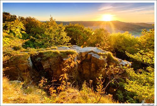 sunset nature landscape sonnenuntergang natur landschaft wald hitech 10mm stativ eichsfeld ndgrad 09reverse tamron1024mmf3545spdiiildaslif