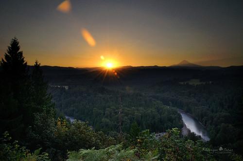 usa oregon sunrise river nikon sandy mount hood viewpoint d90 johnsrud pixelistes frederiquetezier